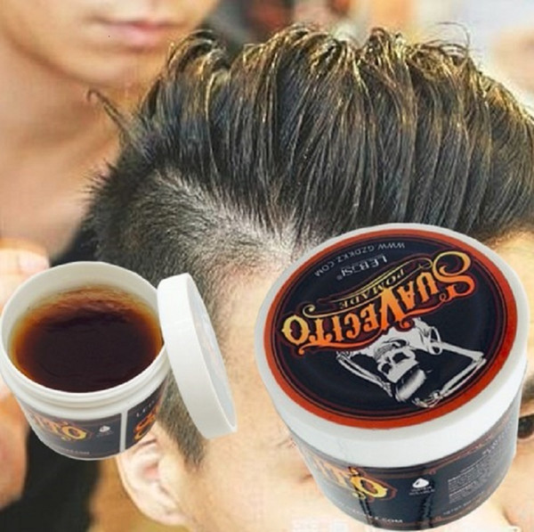 best selling Ancient Hair Cream Product Hair Pomade For Styling Salon Holder In Suavecito Skull Strong Hair Modelling Mud