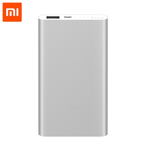 Original Xiaomi Power Bank 5000mAh2 Mi Portable Charger Ultra Slim Powerbank Xiaomi 5000mAh External Battery for Android and IOS