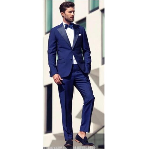 Индивидуальные новый мужской костюм из двух частей костюм (куртка + брюки) мужская мода джентльмен красивый костюм свадьба жених жених платье
