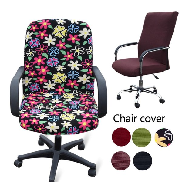 Tremendous Elasticity Office Computer Chair Cover Side Arm Chair Cover Recouvre Chaise Stretch Rotating Lift Without Slipcovers For Dining Room Chairs Disposable Gmtry Best Dining Table And Chair Ideas Images Gmtryco