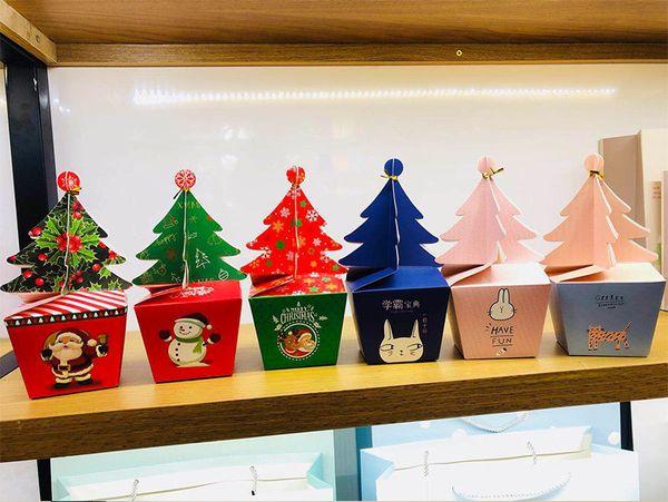 Nuovo contenitore di caramelle creativo Natale in marmo Bomboniere Forniture per feste grazie Scatola regalo di cioccolato 100pz wn607B
