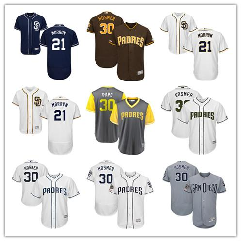 2019 Padres Jerseys #21 Brandon Morrow Jerseys 30 Hosmer men#WOMEN#YOUTH#Men's Baseball Jersey Majestic Stitched Professional sportswear