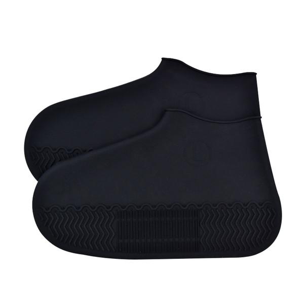 1 Paire Élastique Silicone Protecteur Antidérapant Bottes De Pluie Imperméable En Plein Air Semelle Épaisse Couvre-Chaussures De Voyage Résistant À L'usure Accessoires