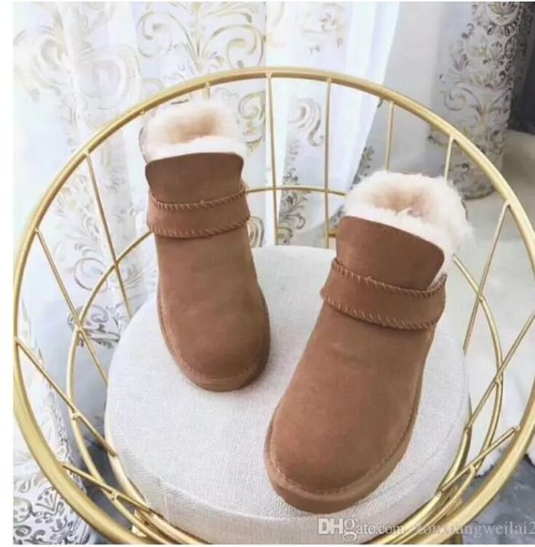TOP AUSTRALIA HOT SELL CLASSIC SHORT WOMEN SNOW BOOTS FUR INTEGRATED KEEP WARM BOOTS SHOES WGG W IS THE U BEST CHRISTMAS GIFT US4-UDS11