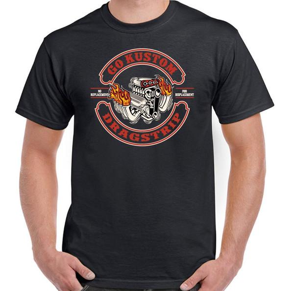 Go Custom Dragstrip Herren Lustige Dragster T-Shirt Hot Rod Hotrod Auto
