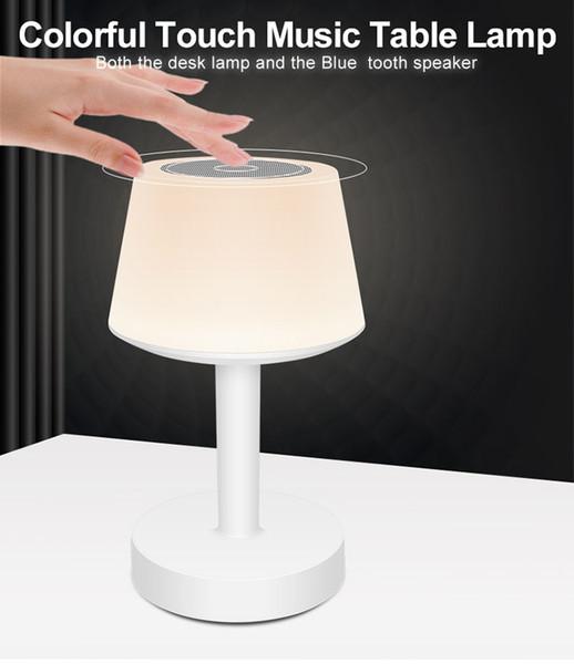Acheter Haut Parleur Sans Fil Bluetooth Lampes De Table De Chevet Touch Control Dimmable Smart Bureau Bluetooth Batterie Lam Rechargeable Sans Fil Led