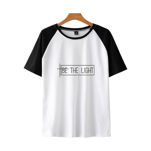 Real Hasta La Muerte Be The Light Leisure Time Insert Shoulder Short Sleeve Shirt T Shirts