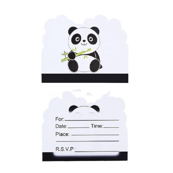 Compre Panda Blanco Y Negro Tema De Dibujos Animados Fiesta Infantil Fiesta De Cumpleaños Decoraciones Invitaciones De Boda Para Niños A 32 93 Del