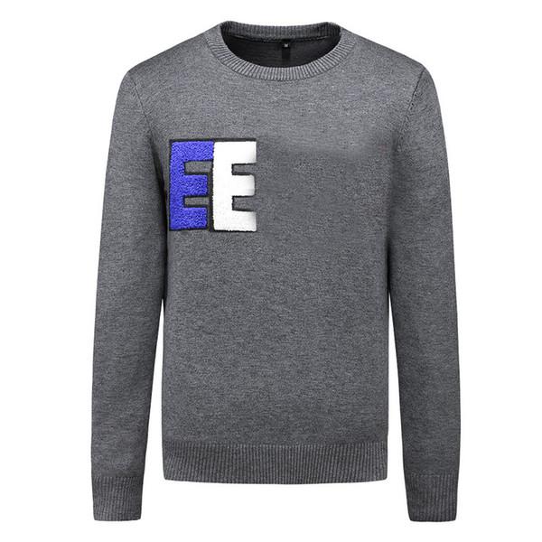 top popular Men Brand Sweater Letter Embroidery Knitwear Winter Sweatshirt Crew Neck Long Sleeve Sweater for Female Designer Hoodies 2019