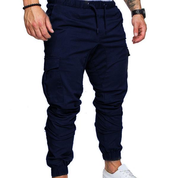 Mode für Männer gerade Bein Jogger Cargohose beiläufige dünne Sitz-Sport-lange Hosen Fabala Jogginghose Hosen Jogging Anzug