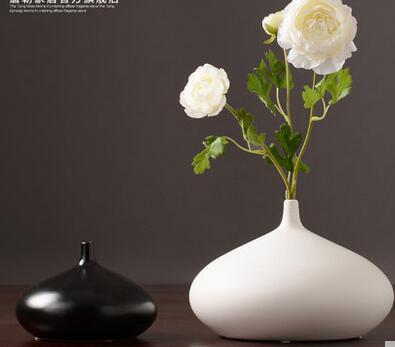 Japanese Zen Ceramic Flower Arrangement Vase Black and White Simple Fashion Dryer Living Room Dining Table Home Soft Decoration