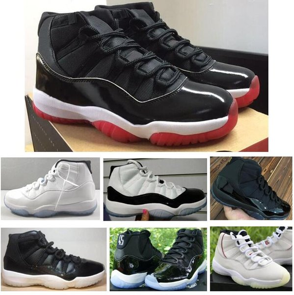 Real Carbon Fiber 11 11s 2019 New Bred Concord Gamma Blue Platinum Tint 72-10 Basketball Shoes Men Women Top Quality Sneakers With Box