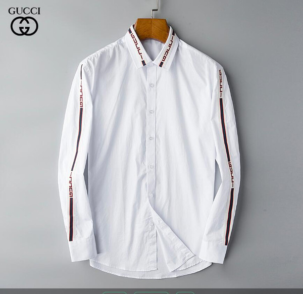 NIGRITY 19 Spring Men's Fashion Classic Comfortable Casual Long Sleeve Business Shirt Man Formal Shirt Plus Size S-Size 3XL#146