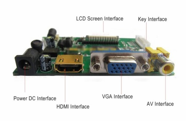 """Control Driver Board 8/""""inch HE080IA-01D 1024*768 IPS high-definition LCD Display"""