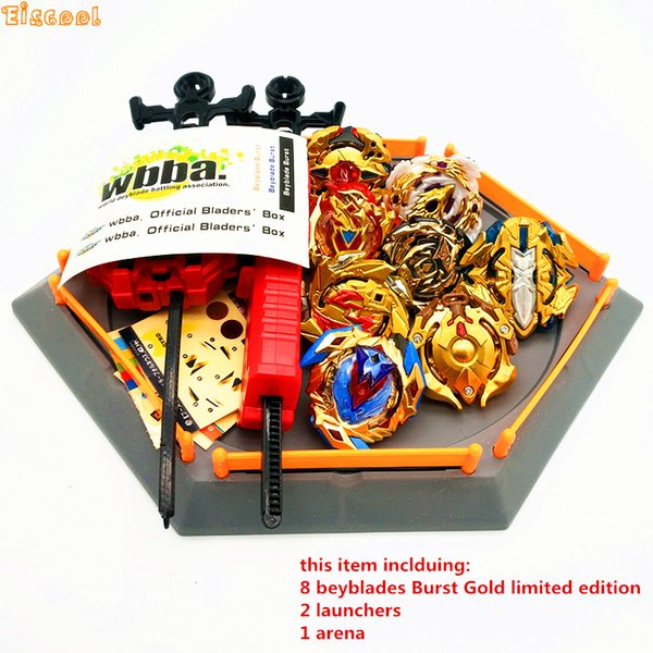 Golden Beyblade Burst Toy With Launcher Starter and Arena Bayblade Metal Fusion God Spinning Top Bey Blade Toy Drop shipping g