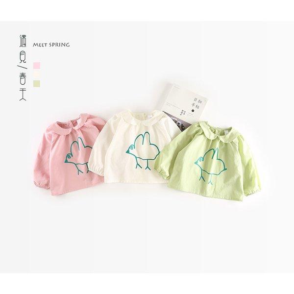 Fashion Kids Baby Girl Peter Pan Collar Blouses Cotton Outfits Top Shirt Children Clothing Pretty Pattern Print Princess Clothes