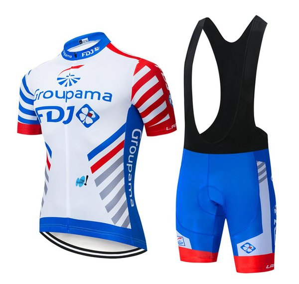 Hot sale 2019 FDJ team Cycling Short Sleeves jersey shortssets Culotte suit sets summer winter Men's Outdoor Bicycle Sweatshirt