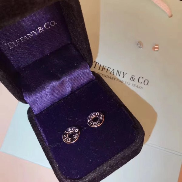 AG925 Pure silver Top quality hollow round Earrings for lady Fashion Design Wedding With brand name Jewelry With box PS7434