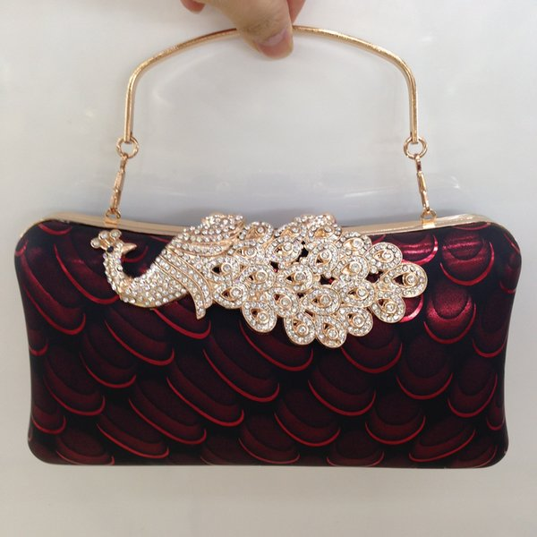 Drill-in Dinner Bag The bride carries the evening dress bag in her hand Banquet handbag Pure hand embroidery Restoration Dinner Bag