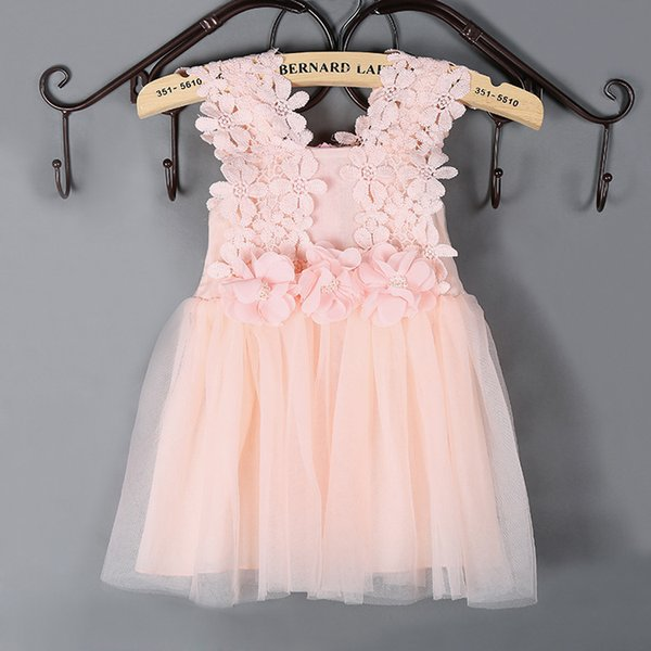 Girl's Dress Kid Clothing Lace Tutu Skirt for Baby Little Girls Hot Sale Summer Children Clothes Pink White Blue