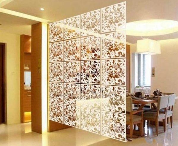 40cmx40cm Biombo الستار لوحات الحائط شنقا شاشة غرفة المعيشة المتنقلة مدخل الحد الأدنى الأزياء الصينية للطي الشاشة