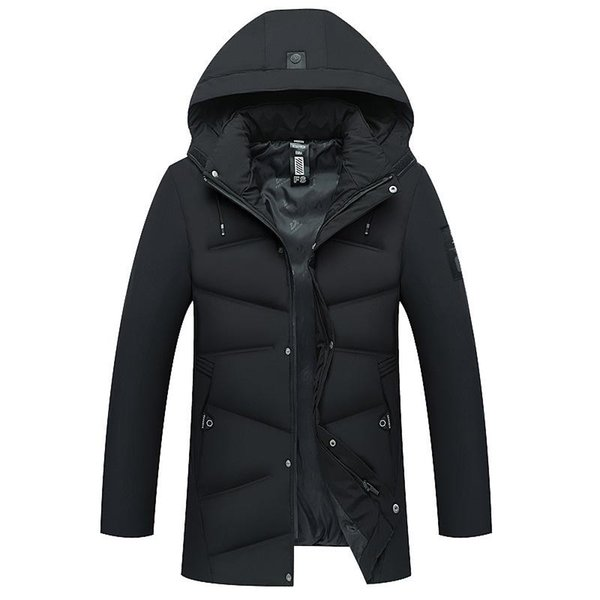 Men's Winter Cotton 2018 New Jacket Medium And Long thick Warm Jacket For Men