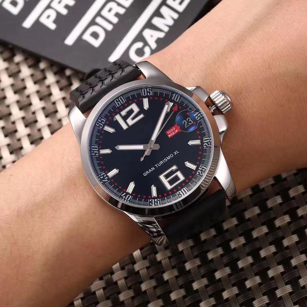 2019Nuevos corredores de moda Reloj mecánico automático para hombre Relojes de pulsera Caja de reloj de 42 mm Correa de reloj de goma negra Panel de instrumentos de coches antiguos