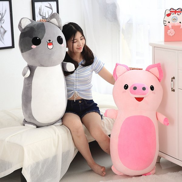 60/85cm/pcs Plush Animal Pillow Toys Soft Baby Pillow Stuffed Sofa Cushion Plush Unicorn Cat Dog Pig Dolls Cute Children Gifts