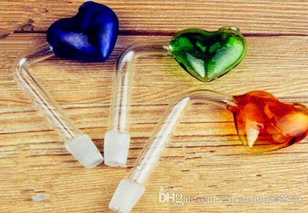 Right heart pot ,Wholesale Bongs Oil Burner Pipes Water Pipes Glass Pipe Oil Rigs Smoking Free Shipping