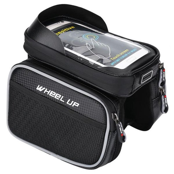 WHEEL UP Mountain Road Bike Bicycle Bags Triangle-Shape Front Frame Top Tube Pouch Waterproof nylon Touch-Screen Cycling Bag f