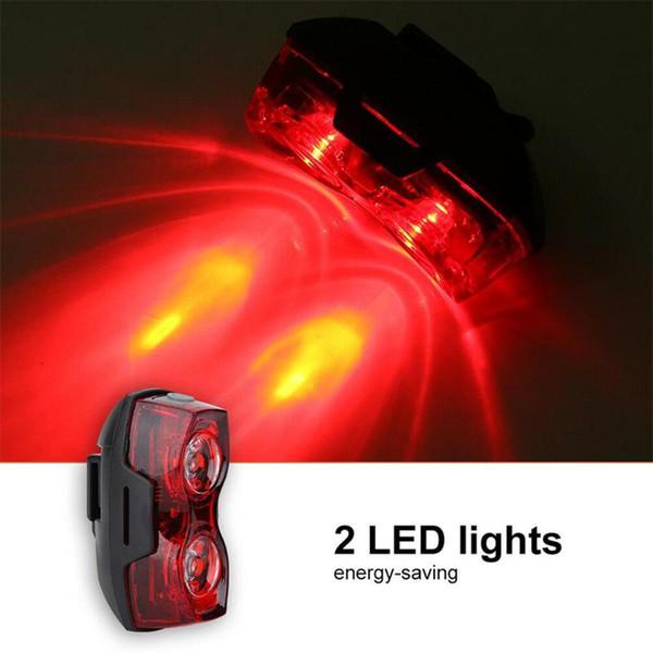New Super Bright Bicycle Tail Light Mountain Bike LED Warning Light Cycling Equipment Tail Flashing Back Warning Lamp