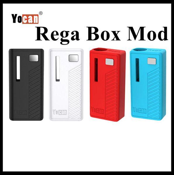 Original Yocan Rega Box Mod 320mAh Preheat VV Battery With Magnetic Adapter Vaporizer For 510 Thick Oil Vape Cartridge DHL Free