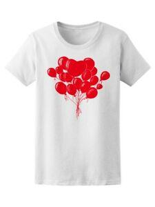 Cool Red Balloons Graphic Women's Tee -Image by Funny
