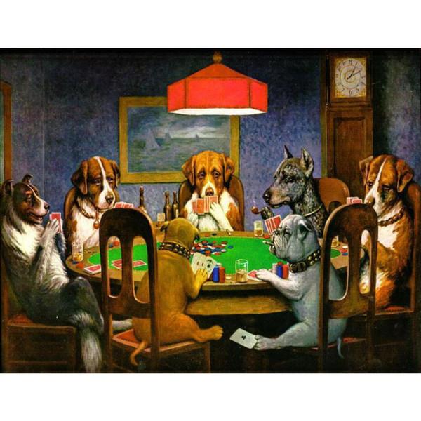 Pintado a mano Cassius Marcellus Coolidge lienzo A Friend In Need Pop Art Dog pintura para la decoración del hogar