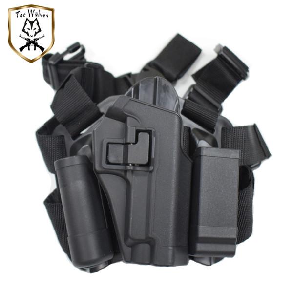 Tactique rapide chute main droite jambe Holster pour SIG P226 Pistolet chasse en plein air Airsoft pistolet à air Cuisse Holster