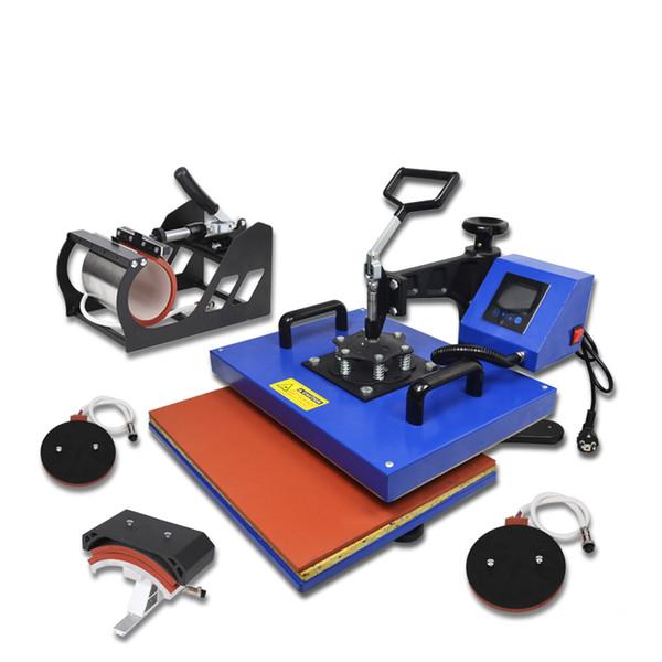Advanced New design 33*45cm Big size 5 In 1 Heat Press Machine, Heat transfer machine For Mug/Cap/T shirt/ etc,sublimation printer