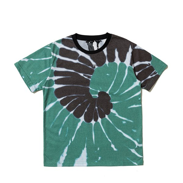 19ss casual New Style Classic V lone digital direct spray Tie dyeing Women Men cotton T shirts Hip hop Men Fashion Tee
