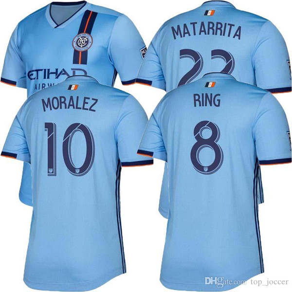MLS Player version New York City Home Soccer Jersey 2019 NY City FC Soccer shirt Blue 19/20 player version home Adult Football uniforms