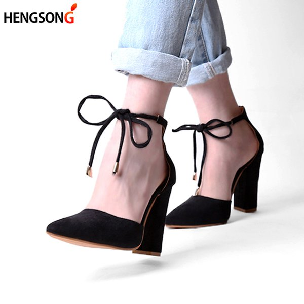 Designer Dress Shoes New Lace Up High Heels Women's Sandals Summer Woman Ladies Pumps Sexy Thin Air Heels Footwear Woman