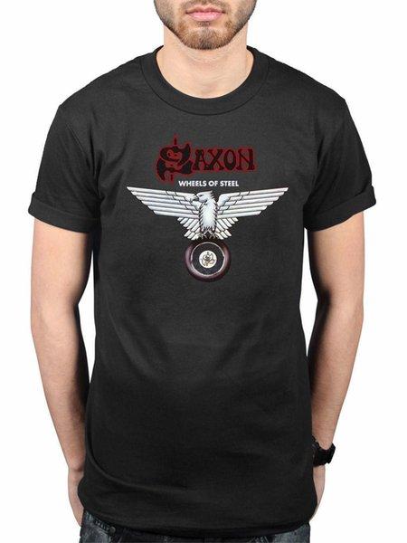 Official Saxon Wheels Of Steel T-Shirt Heavy Metal Band Merchandise
