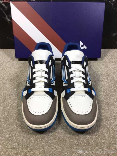 haute qualité gris et blanc qualité mode formateurs baskets nouvelle réaction de chaîne hommes chaussures de sport avec sac à poussière