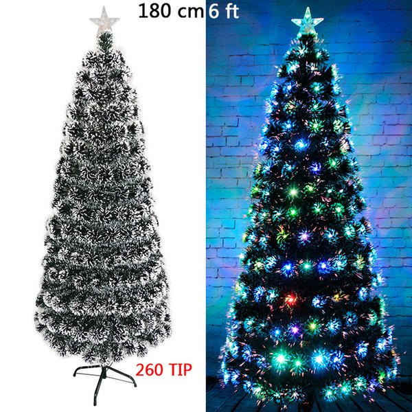 Valorcielo 4 5 6 White Christmas Tree With 145 200 265 Branch Tip And Colorful Led Lights Kerstboom Christmas Decorations Christmas Outlets
