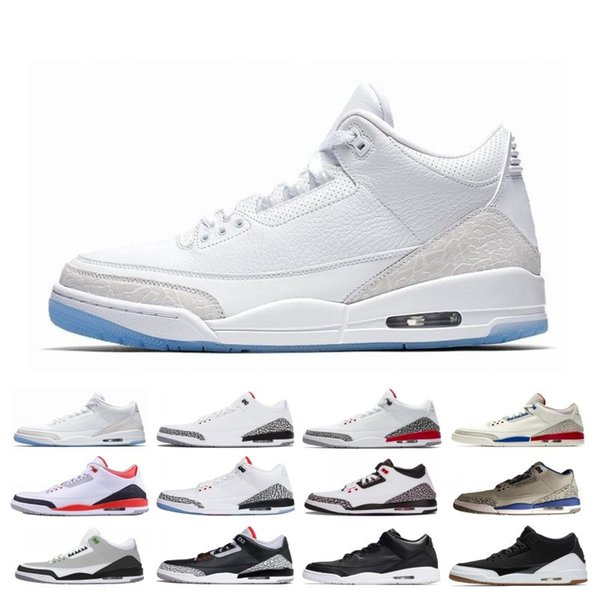Free Shipping 3 3s Men Basketball Shoes SEOUL Katrina Mocha Charity Game Pure White Infrared Fly Black III Sports Shoe Designer Sneakers