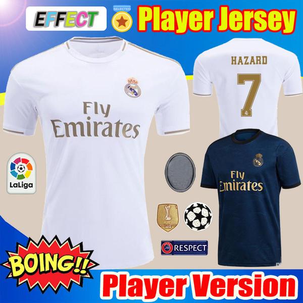 Player Version 19 20 Real Madrid Soccer Jerseys Kids Kits Home Away 2019 HAZARD camiseta de fútbol SRERGIO RAMOS MODRIC Sets Football Shirts