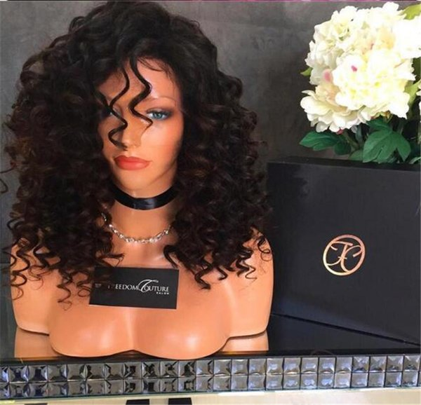 Top quality Brazilian short Bob Kinky Curly Full Lace Wigs For Black Women Lace Front Wigs Glueless hair with baby hair Human wigs