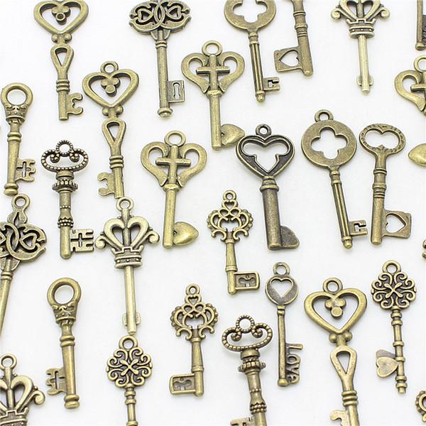 Sweet Bell 200pcs mixte petites clés charms Vintage bronze alliage de Zinc Métal Fine Trendy Mixed Pendant Charms Making D1089