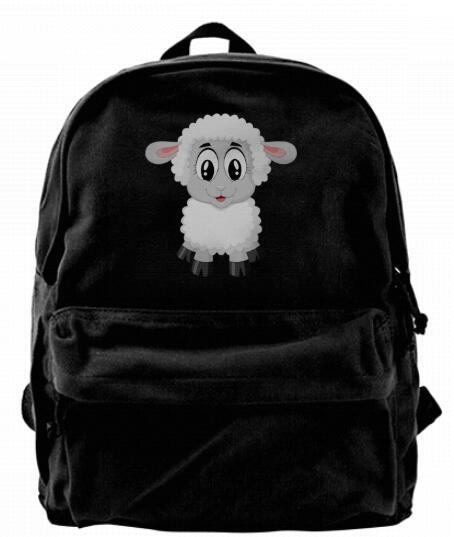 Lustige schafe leinwand schulter rucksack netter rucksack für männer frauen teens college travel daypack