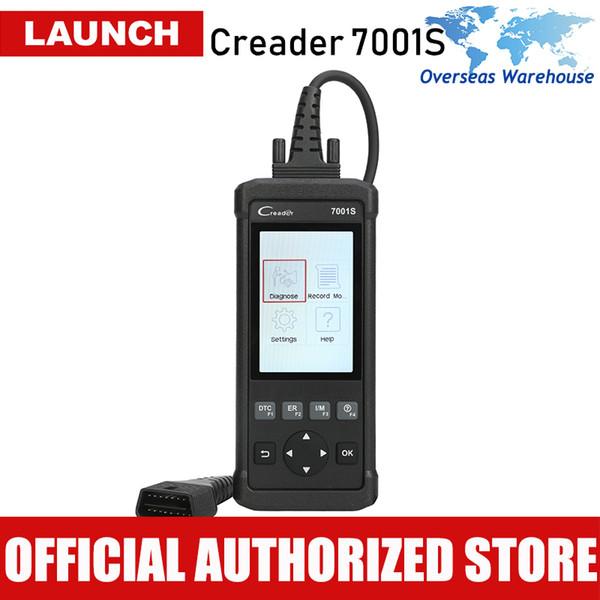 OBD2 Scanner Launch CReader 7001S Lector de código de automóvil OBDII / EOBD completo Herramienta de escáner de diagnóstico automático con ABS / SRS / EPB / Servicio de aceite