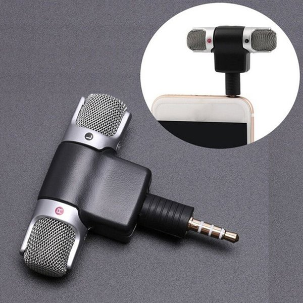 Portable Mini Stereo Microphone Mic Audio For Computer Laptop Notebook Andriod Phone Talk 3.5mm Recorder Desktop Accessories &