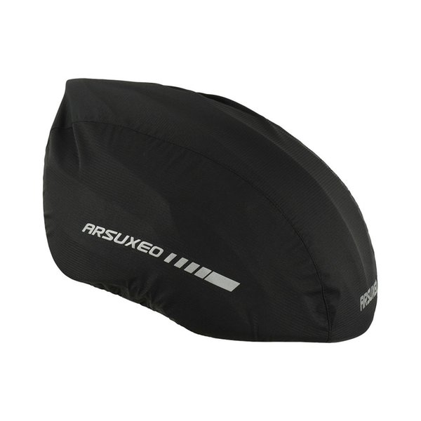 Arsuxeo Waterproof Bike Helmet Cover with Reflective Strip Cycling Bicycle Helmet Rain Cover Bicycle Water Snow